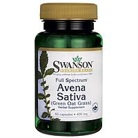 Экстракт овса посевного - Авена Сатива / Avena Sativa (Green Oat Grass), 400 мг 60 капсул, фото 1