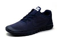 Кроссовки Найк Free 3.0, мужские, темно-синие, р 44