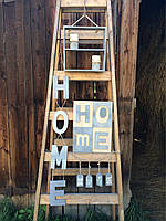 Подвесное деревянное слово HOME, фото 1