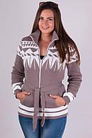 Кофта тёплая  женская батал с 44 по 52 размер, фото 1