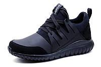 Кроссовки Adidas Tubular, мужские, кожа, черные, фото 1