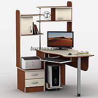 Угловой компьютерный стол с тумбами, Тиса-10, яблоня-локарно + Ваниль