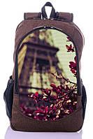 Рюкзак школьный, городской с принтом Paris.