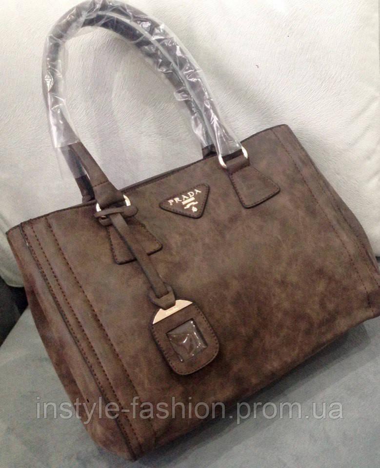 f4b563c23b60 Сумка Prada эко-кожа коричневая - Сумки брендовые, кошельки, очки, женская  одежда