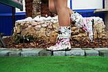 Стильные нежные тканевые сапожки с открытым носком , фото 3