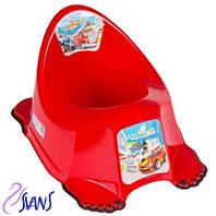 Детский антискользящий горшок Веселка Cars CS-001 красный Tega 60544