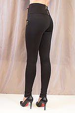 Лосины женские стильные черные высокой посадки, 42,44,46, фото 3