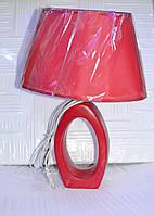 Лампа настольная, высота лампы -  43 см, диаметр абажура - 30 см.