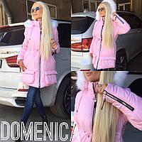 Женская зимняя курточка с большим количеством молний (2 цвета)