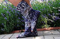 Стильные тканевые сапожки с открытым носком