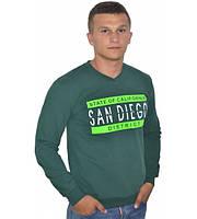 Стильный мужской свитшот San Diego зелёного цвета