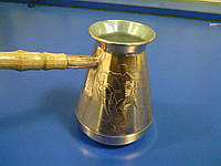 Турка медная Футбол (500мл) золото
