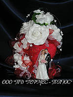 Свадебная композиция на стол молодоженов