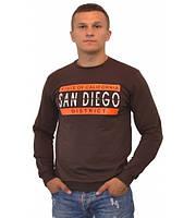 Стильный мужской свитшот San Diego коричневого цвета