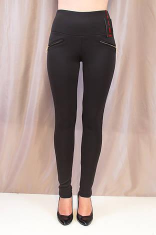 Лосины женские стильные черные высокой посадки, 42,44,46, фото 2