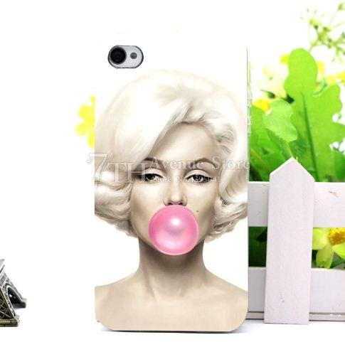 Бампер силиконовый чехол для Iphone 4/4s с рисунком Монро