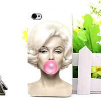 Бампер силиконовый чехол для Iphone 4/4s с рисунком Монро, фото 1