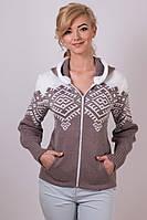 Модная кофта вязаная  с узором женская  с 42 по 48 размер