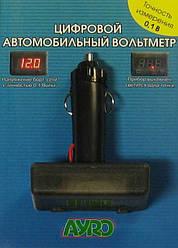 Цифровой автомобильный вольтметр с штекером в прикуриватель 12V AYRO. Купить