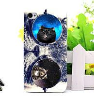 Чехол силиконовый бампер для Iphone 5/5s с рисунком Кот в очках