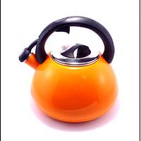 Чайник газовый 1893 металлический со свистком 3.2л Orange
