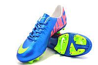 Футбольные бутсы Nike Mercurial FG Blue/Yellow, фото 1