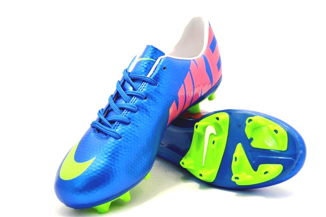 628be3df5348ea Купить Футбольные бутсы Nike Mercurial FG Blue/yellow от ...