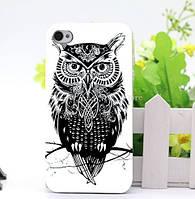 Бампер силиконовый чехол для Iphone 5/5s с рисунком Сова
