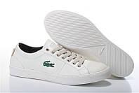 Мокасины  мужские Lacoste  City Series White  (лакост) белые