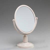 Лаконичное настольное зеркало с увеличением на х3. 28 см