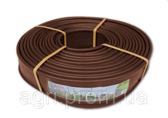 Бордюр ровный 12,5см*18м, коричневый