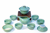 "Набор для чаепитий #7 ""Старая классика"" Гайвань, чахай, сито, 6 пиал, фото 1"