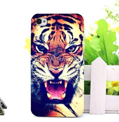 Чехол силиконовый бампер для Iphone SE с рисунком Тигр