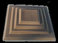 Крышки на кирпичные столбы забора «КАСКАД» 400х400, цвет коричневый, вес 20 кг.