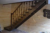 Лестница прямая под старину