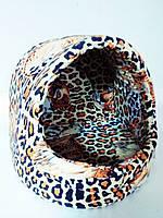 Домик леопардовый для собак и кошек 38х38х38 см