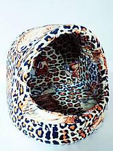 Будиночок леопардовий для собак і кішок 38х38х38 см