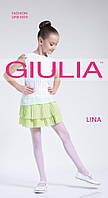 Белые колготки для девочки в горошек LINA 20
