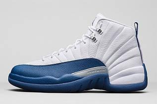 Кроссовки мужские Nike Air Jordan 12 French Blue / AJM-529
