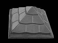 Крышка для забора «ПІРАМІДА» 450х450 мм.цвет серый, вес 44 кг.