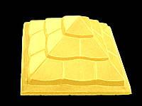 Крышка для забора «ПІРАМІДА» 450х450 мм.цвет жёлтый, вес 44 кг.