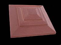 Крышка для кирпичного забора «КАРПАТИ»  310х310, цвет красный, вес 15 кг.