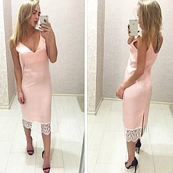 Платье комбинация в нежном цвете