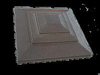 Крышка для кирпичного забора «КАРПАТИ»  500х500, цвет коричневый, вес 36 кг.