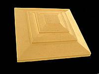 Крышка для кирпичного забора «КАРПАТИ»  500х500, цвет жёлтый, вес 36 кг.