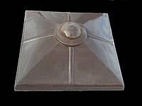 Крышки на забор бетонные «КУЛЯ МАЛА» 450х450 мм. цвет коричневый, вес 31 кг.