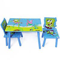 Стол + стул W02-5152 Sponge Bob