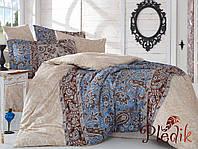 Комплект постельного белья 200х220 HOBBY Exclusive Sateen Caterina бежевый