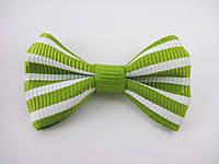 Бантики Зеленые полосатые