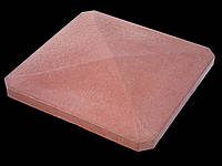 Крышки на забор «ПРЯМА скошенные углы» 480х480, мм. цвет красный, высота 60мм, вес 24 кг.